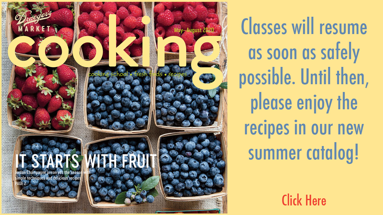 cooking school brochure